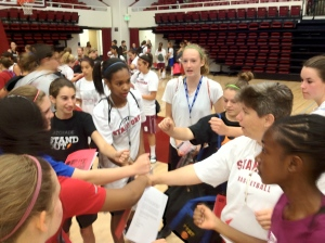 Sports camp at Stanford inspires girls from all over. Sports community is key!