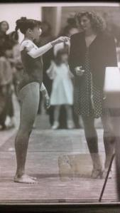 Me coaching at Stanford with Linda Chun (gymnast). We worked a lot on programming the mind. And it worked!